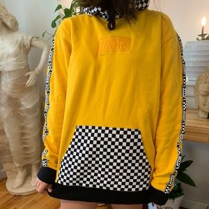 VANS YELLOW AND CHECKERED HOODIE